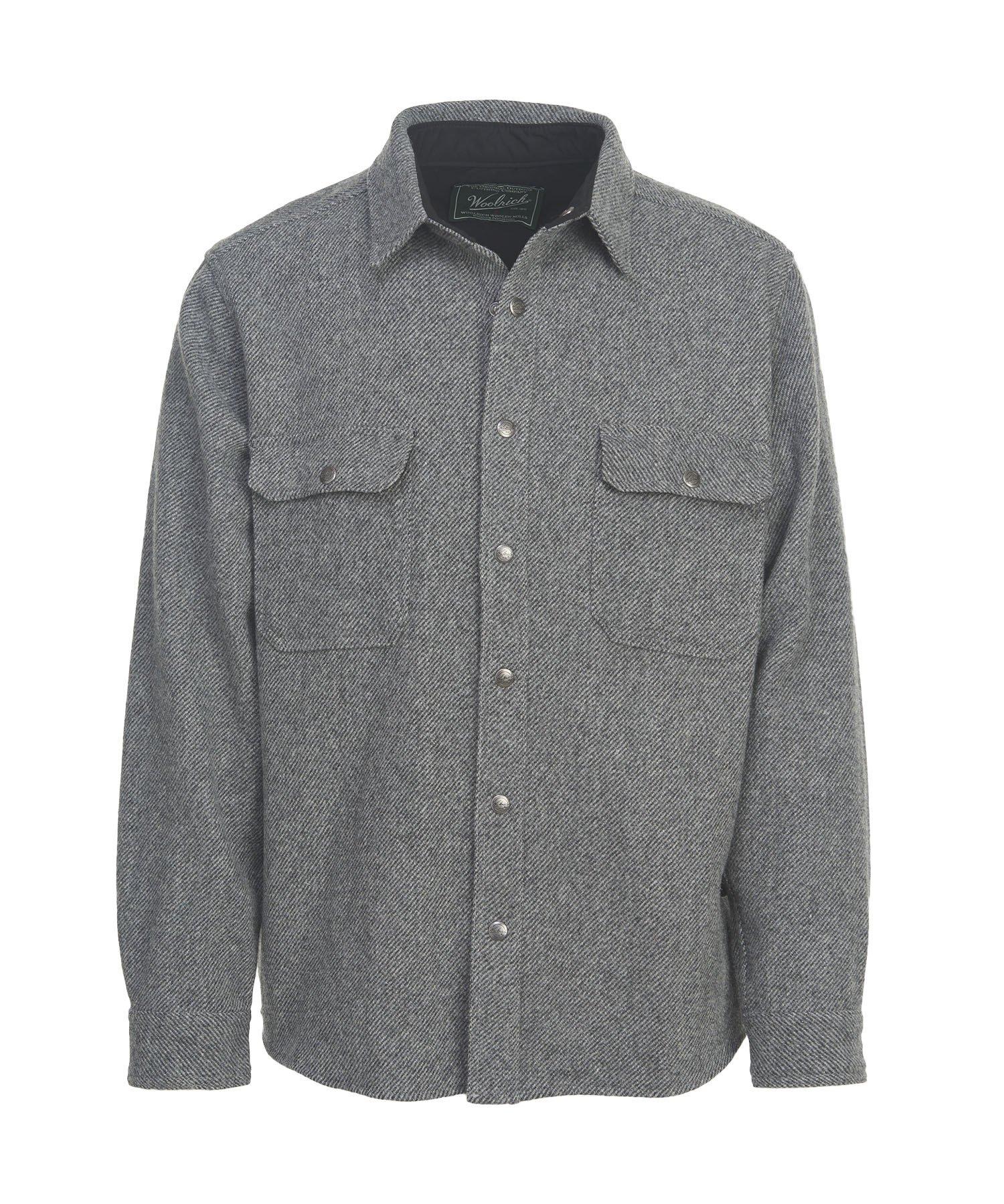 Woolrich Men's Wool Alaskan Shirt, New Gray, Large