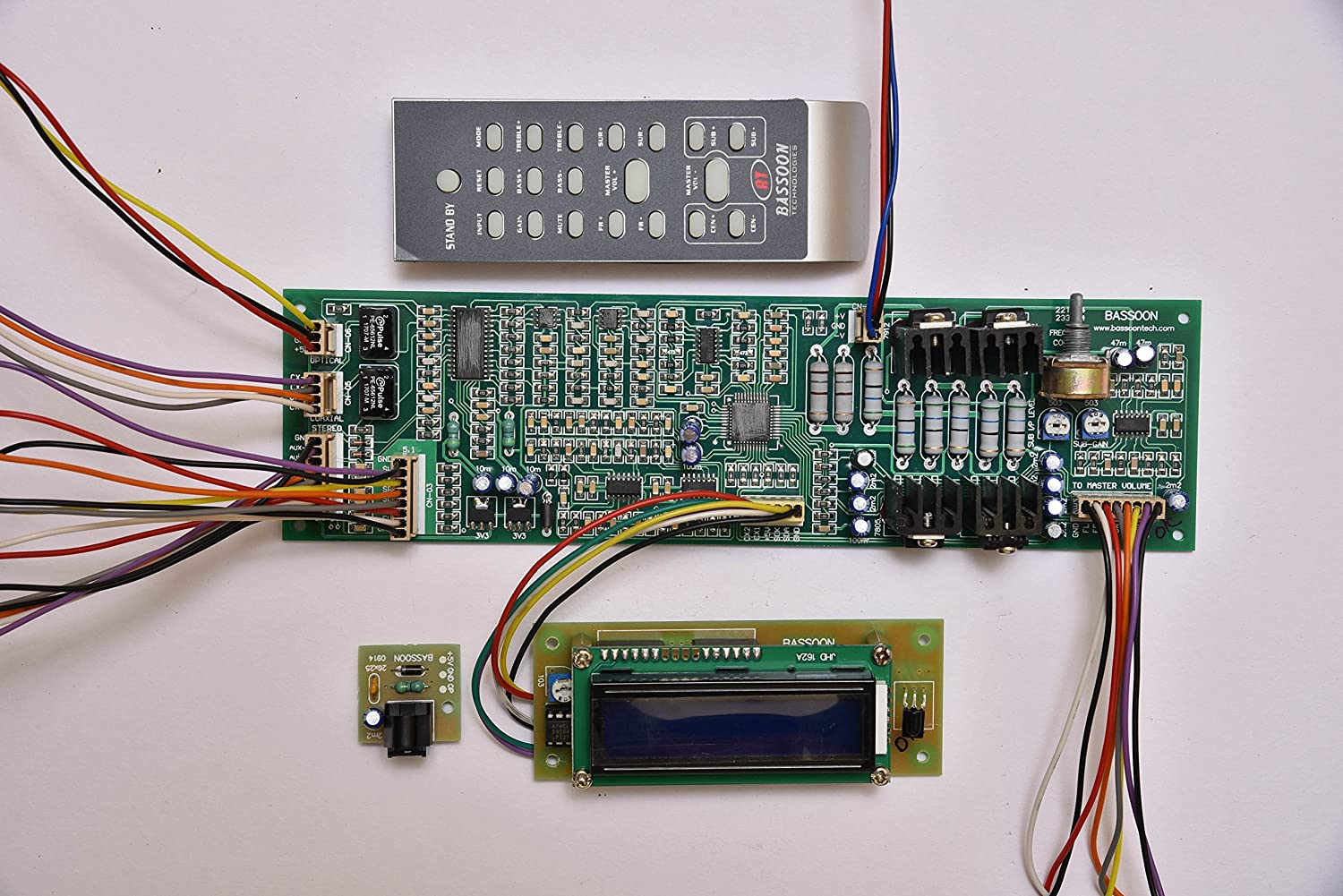 Bassoon 51 Home Theater Remote Board With Optical Amplifierpoweraudiostereo3d Suggested Printed Circuit Electronics