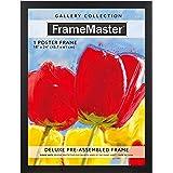 FrameMaster 18x24 Poster Frame, Black Wood Composite, Gallery Edition