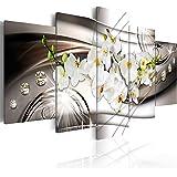 murando - Quadro 200x100 cm - 5 Parti - Quadro su tela fliselina - Stampa in qualita fotografica - Fiore Orchidea Diamondo b-A-0238-b-n