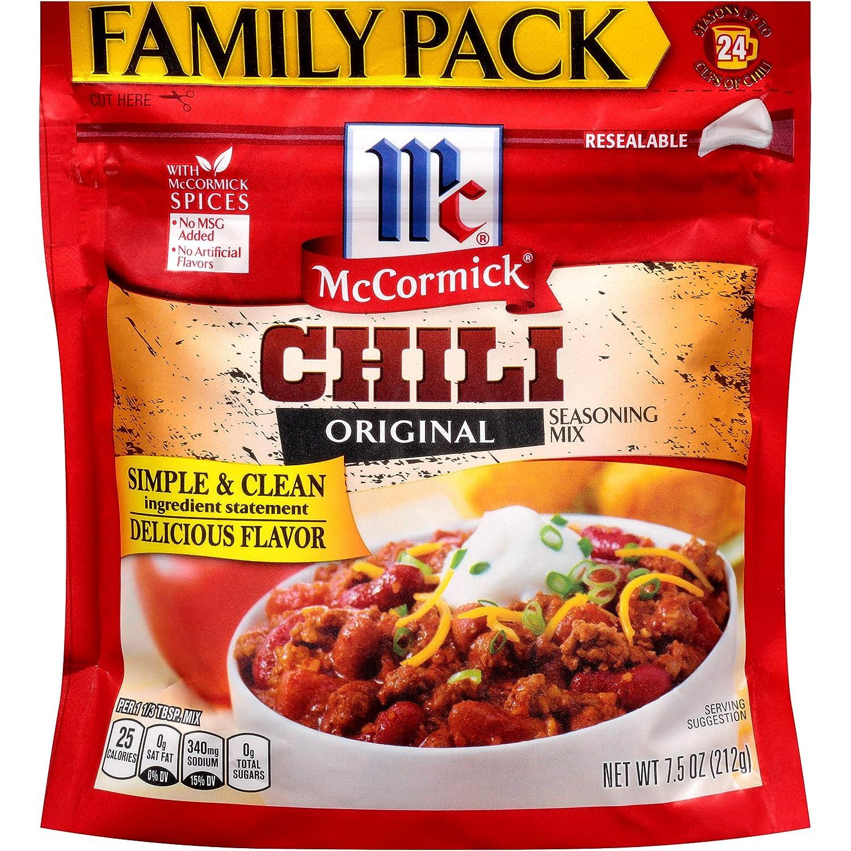 McCormick Family Pack Chili Seasoning Mix, 7.5 oz