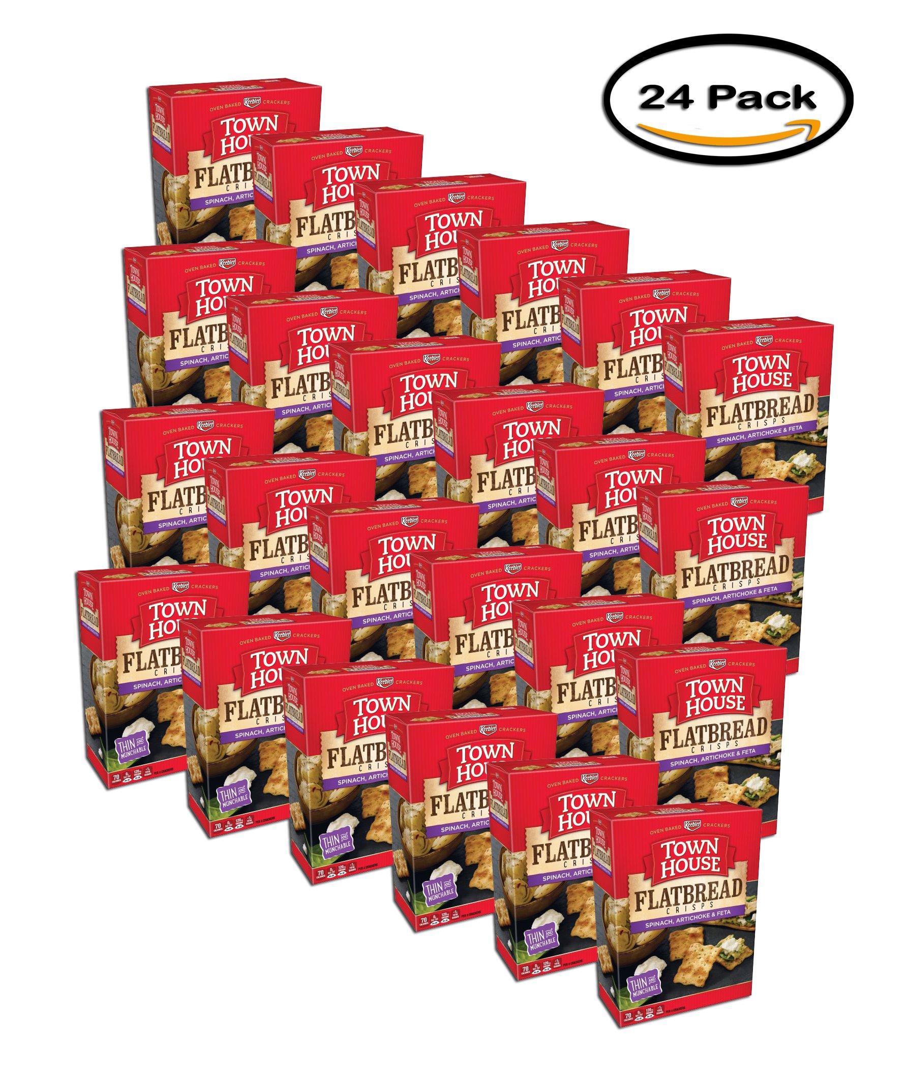 PACK OF 24 - Town House Spinach, Artichoke & Feta Flatbread Crisps 9.5 oz. Box by Keebler