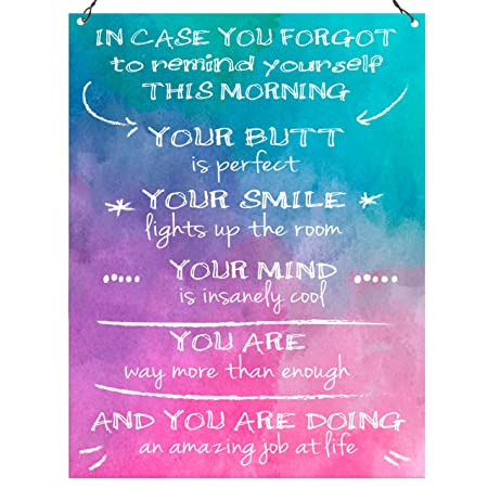 a9f82397de851 Dorothy Spring In Case You Forgot To Remind Yourself Funny Inspirational  Wall Quote Plaque Metal Sign Size 15x20cm: Amazon.co.uk: Kitchen & Home