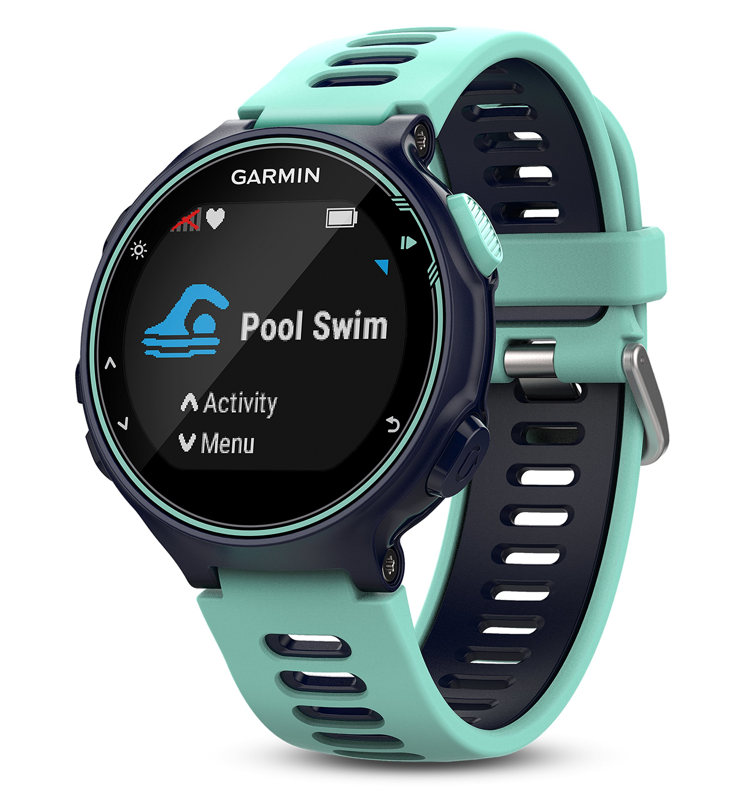 Garmin Forerunner 735XT (Frost Blue, Run-Bundle) Power Bundle | Includes HRM-Run Chest Strap, HD Glass Screen Protectors (x2) & PlayBetter Portable Charger | Multisport GPS Running Watch by PlayBetter (Image #5)