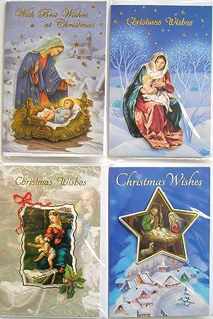 Religiöse Weihnachtskarten.Amazon De 3d Qualität Traditionelle Religiöse Weihnachtskarten 12