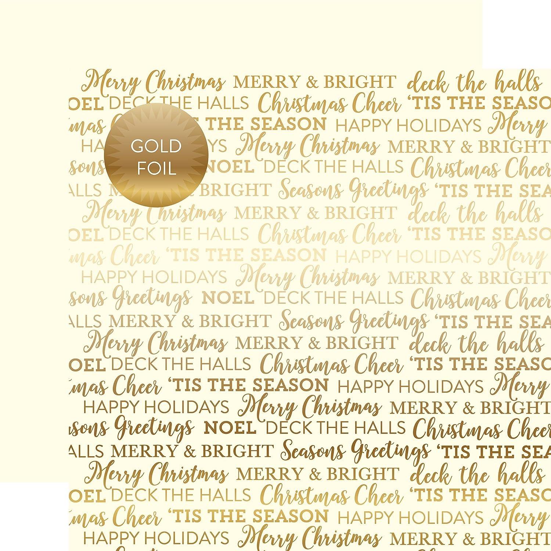 ECHO PARK Paper Company Gold Folie doppelseitig Karton, 30,5 x 30,5 cm B075G437ZW | Rich-pünktliche Lieferung