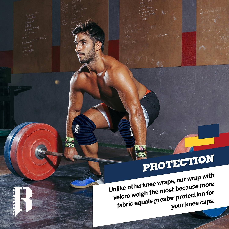 rimsports mejor levantamiento de pesas rodilla envuelve (par) para Cruz formación WOD, gimnasio, levantamiento de pesas, fitness y levantamiento de potencia ...
