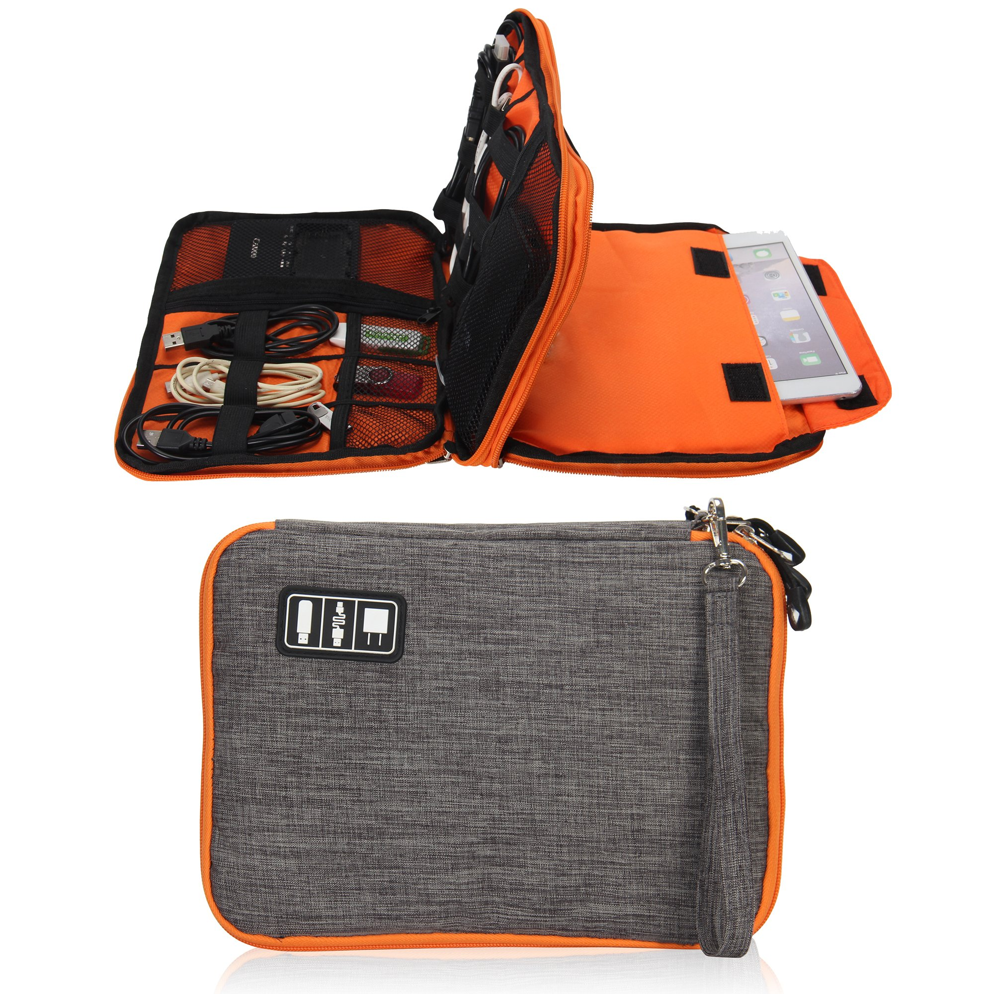 Travel Electronic Organizer Bag Cable Cord Organizer Bag for Various USB Charging Cable iPAD Cellphone
