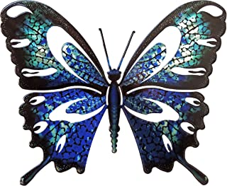 product image for Wall Art Large Butterfly Blue/Black