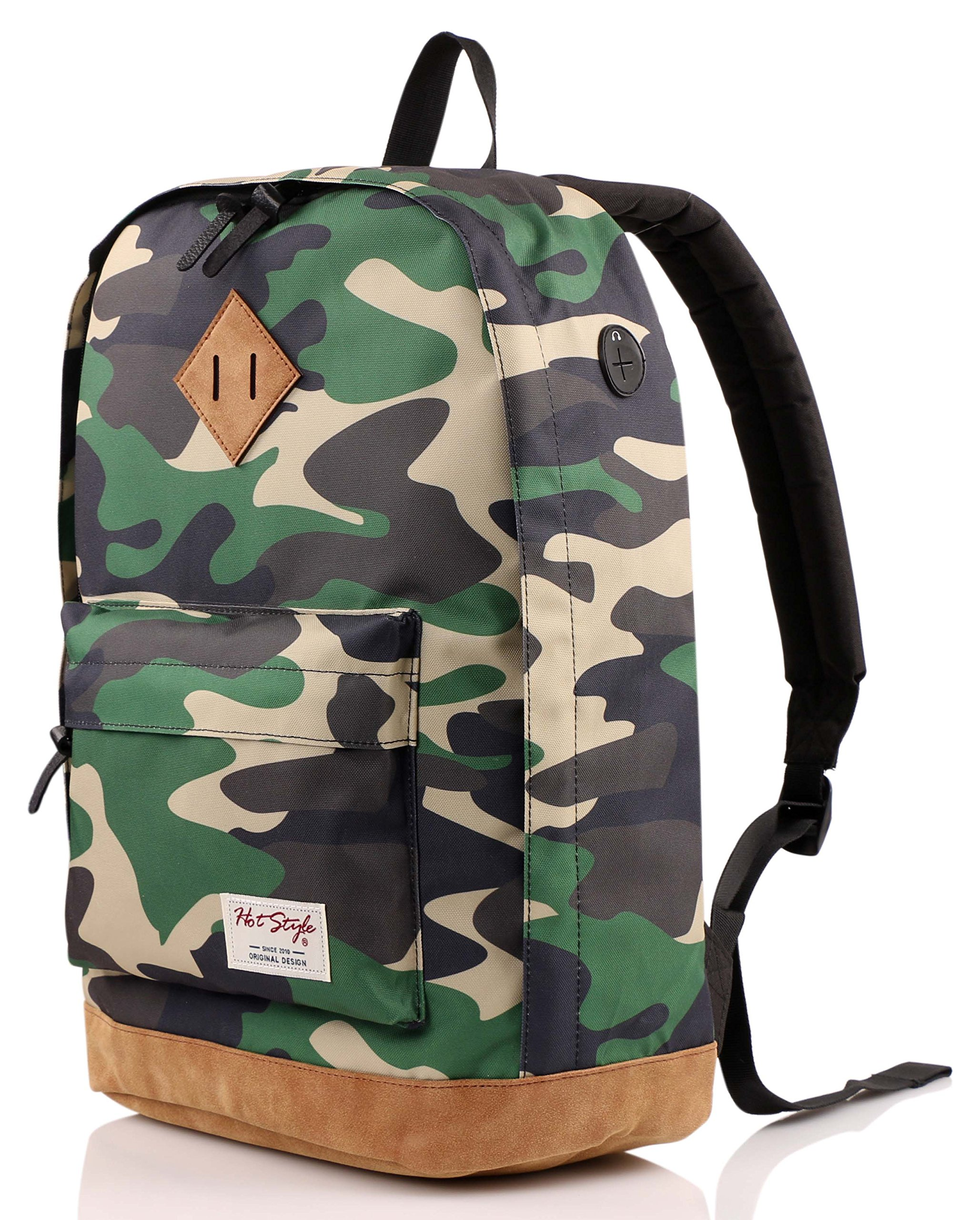 936Plus College Backpack High School Bookbag, Jungle Camo by HotStyle