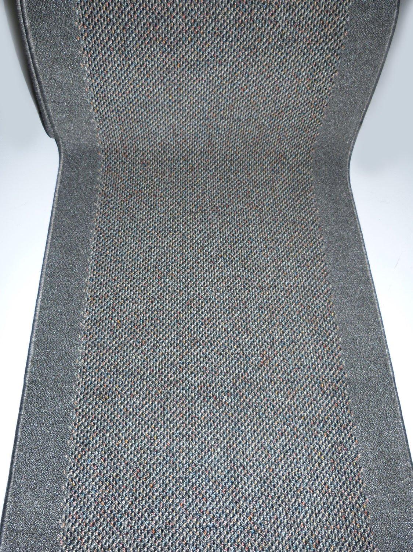 Unbekannt Teppich Teppich Teppich Läufer auf Maß rutschfest Stufenmatten Grau lfm. 29,90 Euro Breite 100 x 340 cm B01M3VOVCR Lufer 5a1044