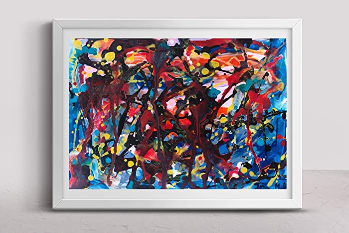 4aa2becda659a Amazon.com: Popular Art Abstract, Modern Art Painting, Fluid Artist ...