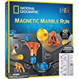 NATIONAL GEOGRAPHIC Magnetic Marble Run - 50-Piece STEM Building Set for Kids & Adults with Magnetic Track & Trick Pieces, &