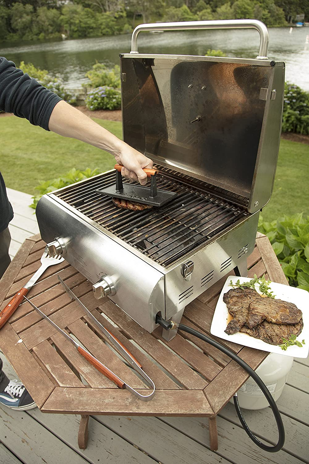 New Cuisinart CGPR-221 Cast Iron Grill Press Free Ship