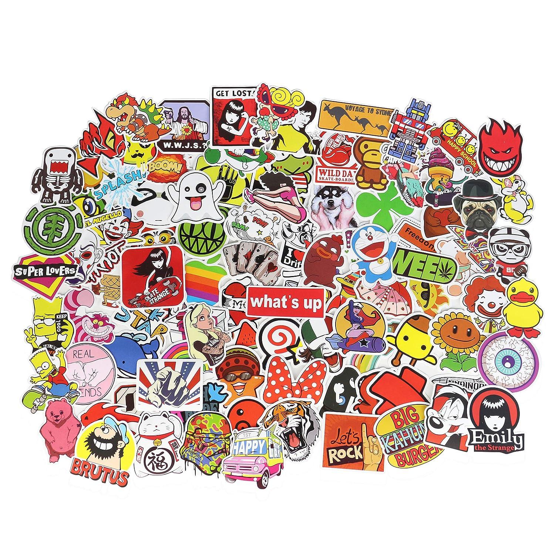 YUANSHI Waterproof Graffiti Stickers,Notebook Computer Decal Stickers,Luggage,Cars,Motorcycles,Bicycles Vinyl Stickers,Skateboard Stickers PVC Random 50 pcs
