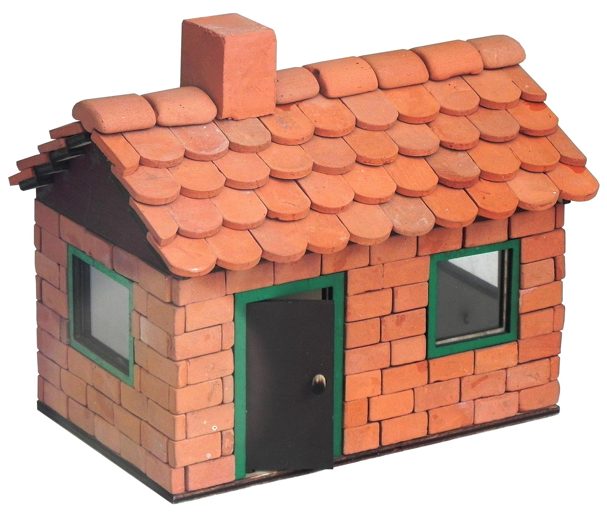 ALEA Mosaic Brick Building Set, Leo House with Fireplace