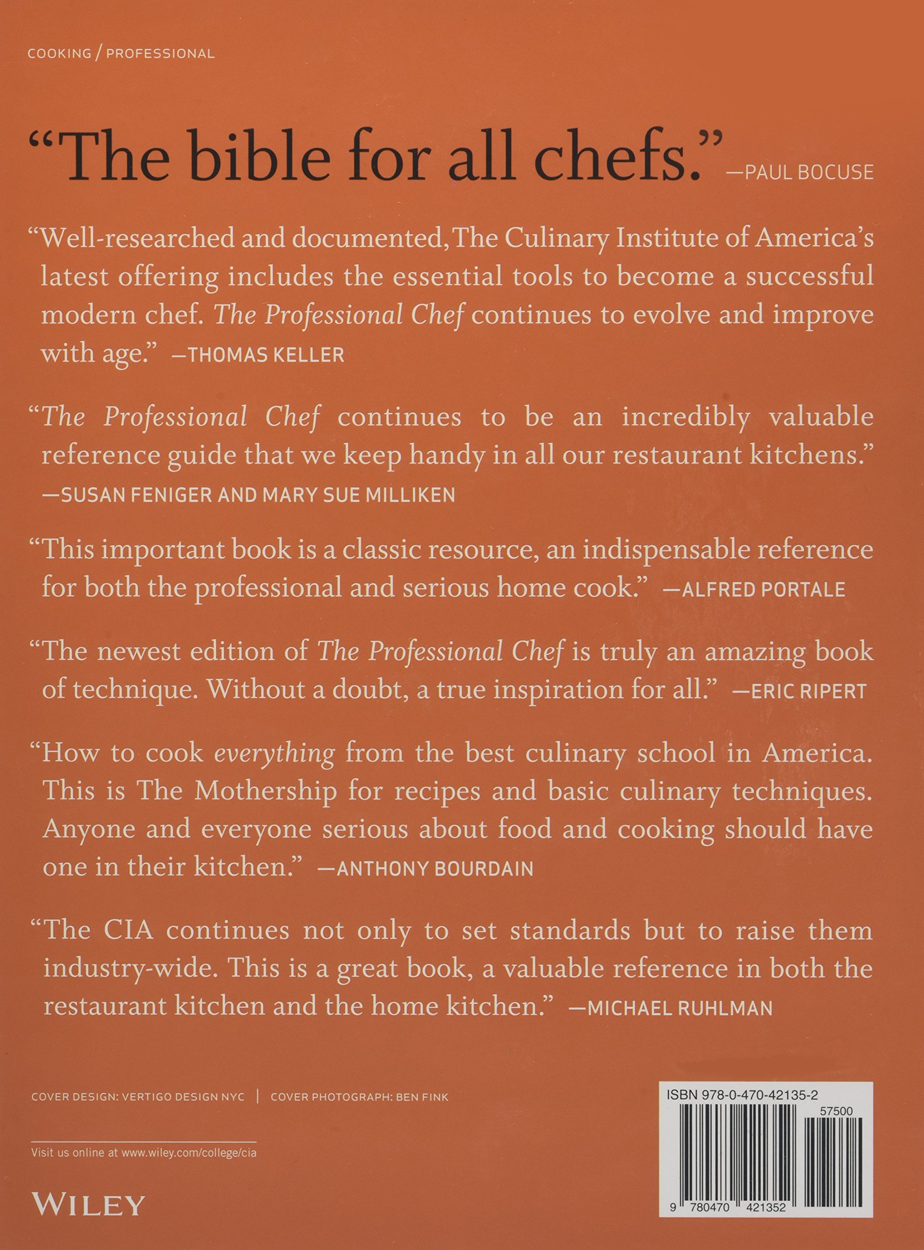 The Professional Chef: The Culinary Institute Of America (cia):  0884713890789: Amazon: Books