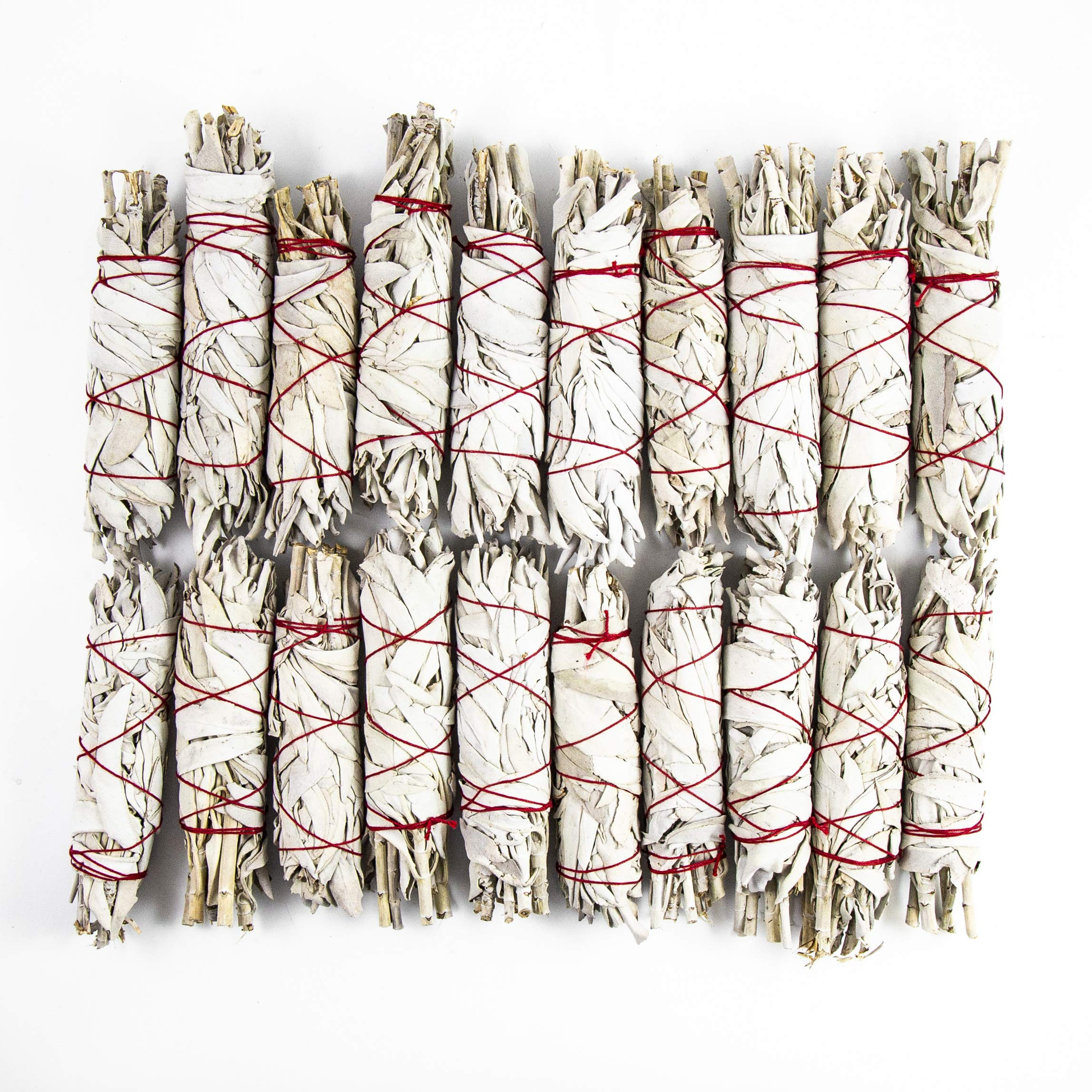 Beverly Oaks California White Sage 4'' Smudge Stick, Perfect for Smudging, Meditation, Protection and Incense, 20 Pack by Beverly Oaks (Image #2)