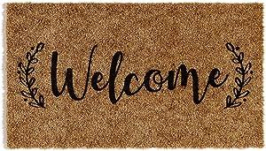 """Barnyard Designs 'Welcome' Doormat, Indoor/Outdoor Non-Slip Rug, Front Door Welcome Mat for Outside Porch Entrance, 30"""" x 17"""""""