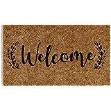 Barnyard Designs 'Welcome' Doormat, Indoor/Outdoor Non-Slip Rug, Front Door Welcome Mat for Outside Porch Entrance, Home Entr