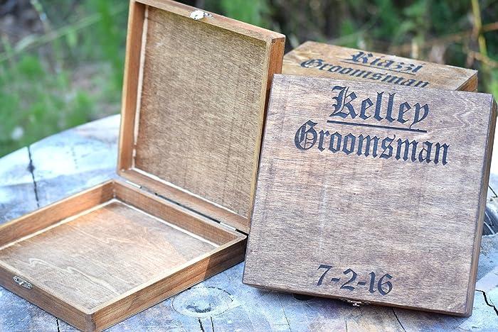 Amazon Personalized Cigar Box Wedding Groomsman Gift Bridal