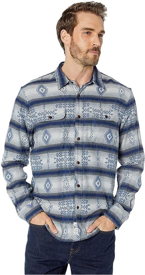 Lucky Brand - Camisa para Hombre de Tejido Doble, Color Plateado: Amazon.es: Ropa y accesorios
