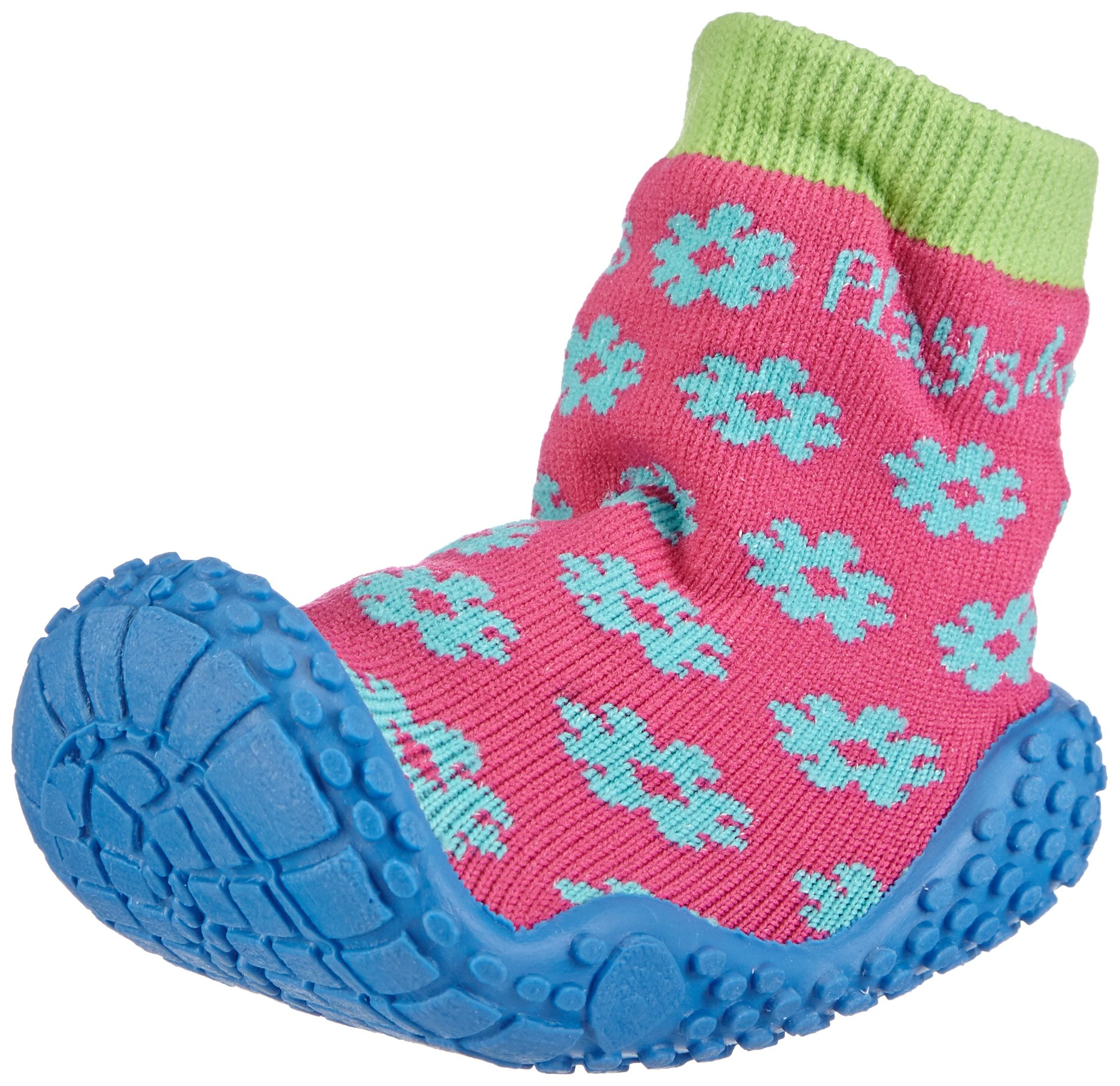 Playshoes Girls Flower Collection Rubber Aqua Swim/Beach Shoes (4.5 M US Toddler) by Playshoes (Image #1)