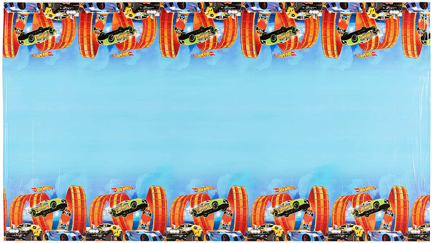 Amscan Hot Wheels Wild Racer Plastic Table Cover, Party Favor, 54