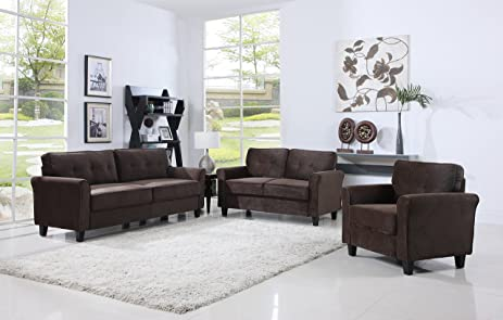 Amazon.com: Classic Living Room Furniture Set - Sofa, Love Seat ...