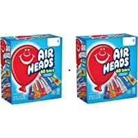 AirHeads Bars, Chewy Fruit Candy, Variety Pack, Party, Halloween, 60 Count (Packaging May Vary) (2 Pack)