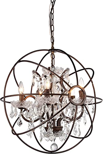 Whse of Tiffany RL8060A Planetshaker Antique Bronze Chandelier