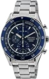 Seiko - SNDG55P1 - Montre Homme - Quartz Chronographe - Cadran Bleu - Bracelet Acier Gris