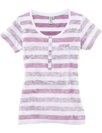 ROADSIGN australia Henley Shirt Colour up weiß / mauve XL