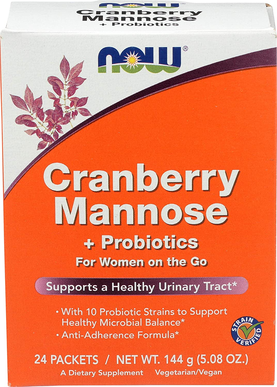 Now Foods, Cranberry Mannose Probiotic, 24 Count