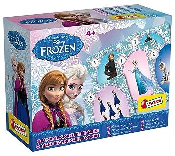 Lisciani - Frozen, juego de cartas gigantes, color azul (ColorBaby 42100)