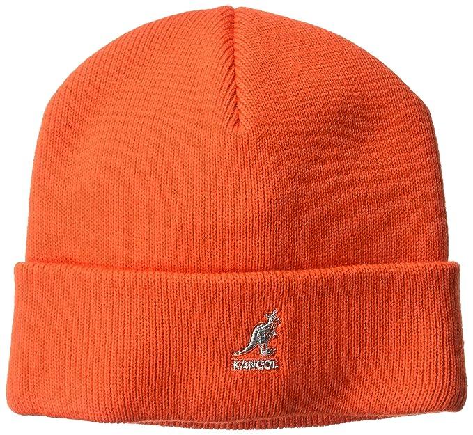 Kangol Cuff Pull On knit beanies kangaroo logo (One Size - orange ... 332c159a3335