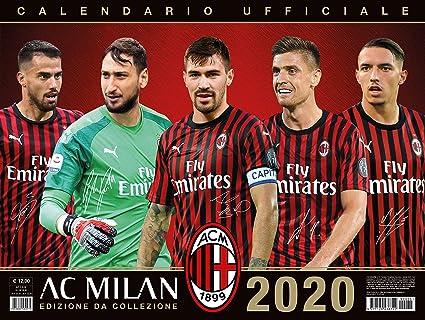 Milan Ac Calendrier.Milan 2020 Calendrier Officiel 44x33