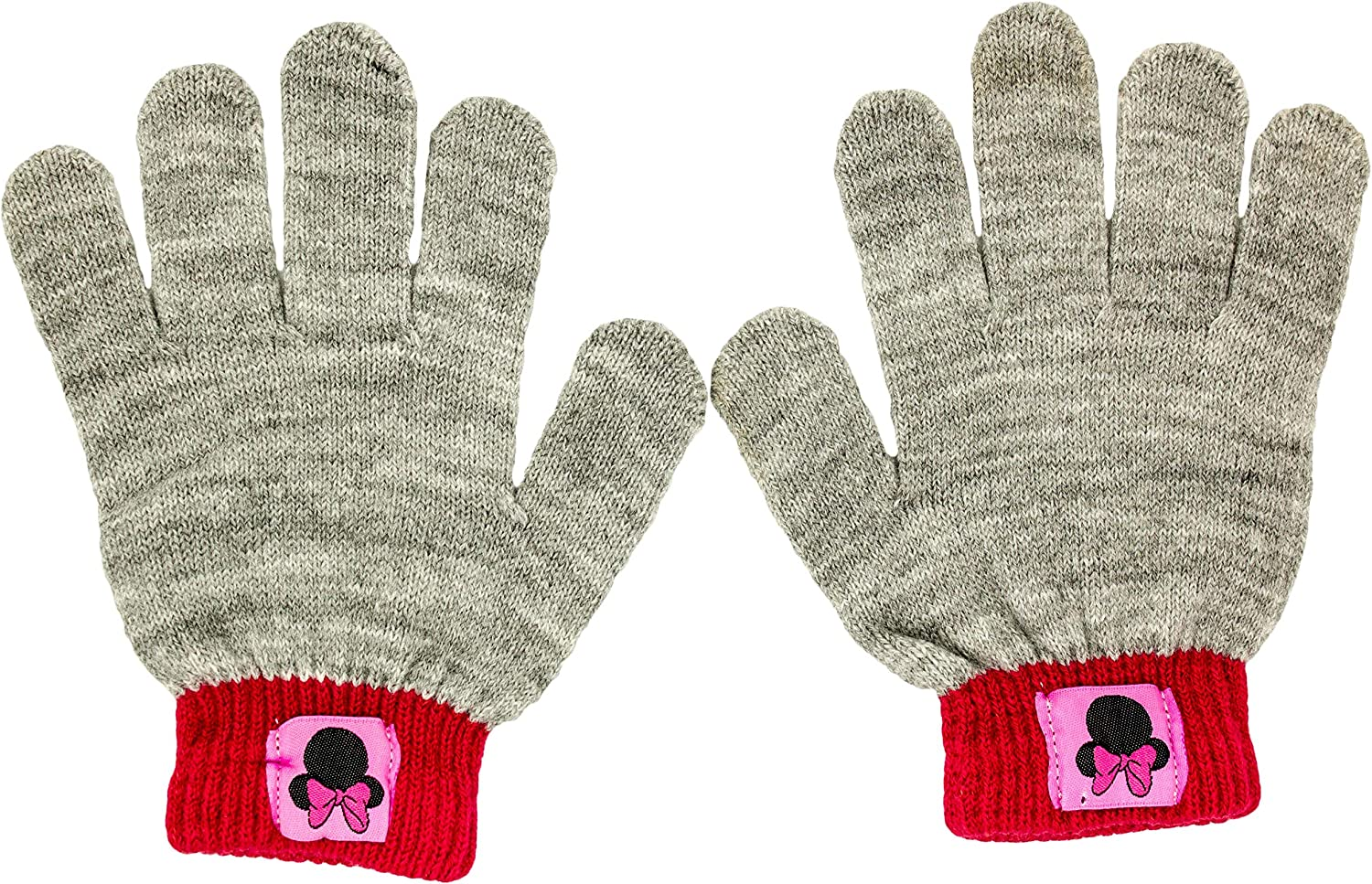 One Size Fits Most Minnie Mouse Winter Hat and Gloves Set for Girls