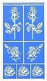 Rub 'N' Etch Designer Stencil 5x8-Detailed Roses