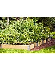 FARMERS FUN Bancal Marco | Jardín Bancal Ampliable a Cualquier Altura | apilable | Material: Abeto, Pino, Color: Natural