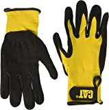 Cat Gloves CAT017416L Large Yellow Foam Cell Nitrile Coated Gloves