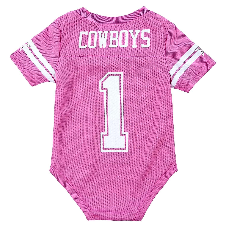 low priced 13df9 24da6 Dallas Cowboys Infant Pink Jersey Bodysuit
