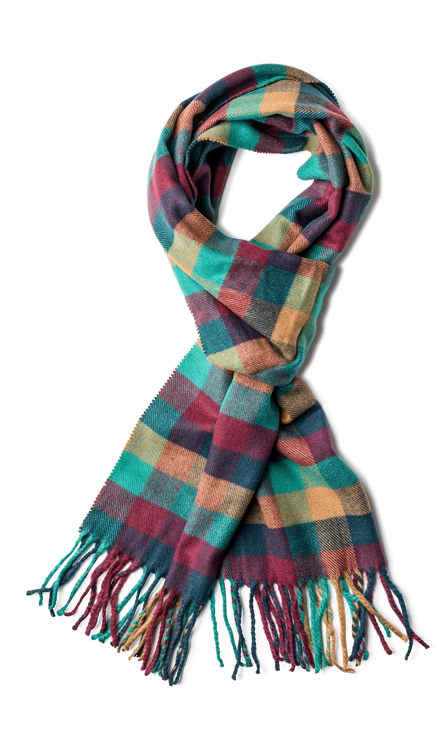 Veronz Soft Classic Cashmere Feel Winter Scarf, Multicolor Boxes