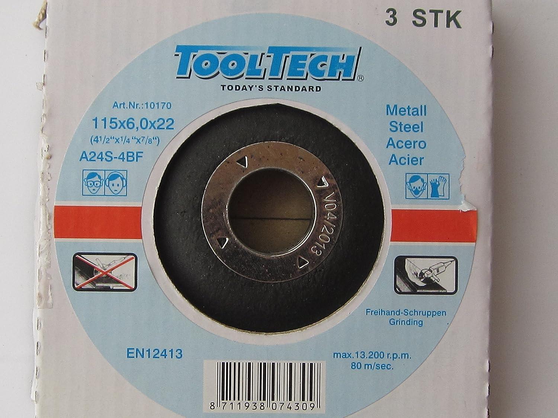 3 st/ück Schruppscheiben 115mm Metall