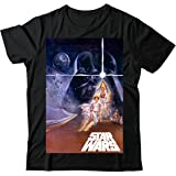 THE ULTIMATE STARWARS MOVIE COVER UNISEX BLACK T SHIRT