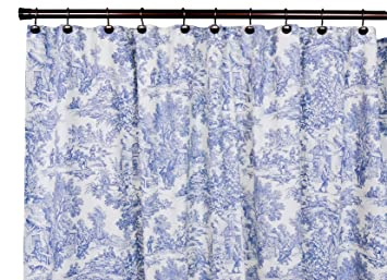 Victoria Park Toile Bathroom Shower Curtain Blue