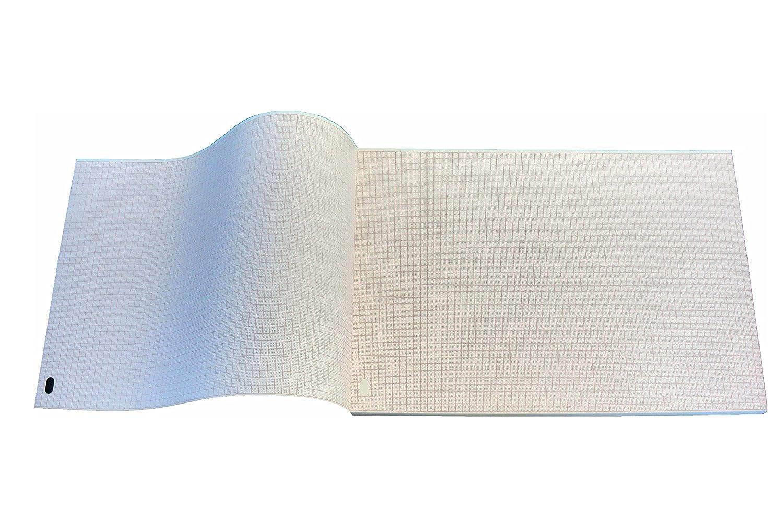 Paquete plegado de papel térmico para ECG compatible con HP/Philips Pagewriter M1710A