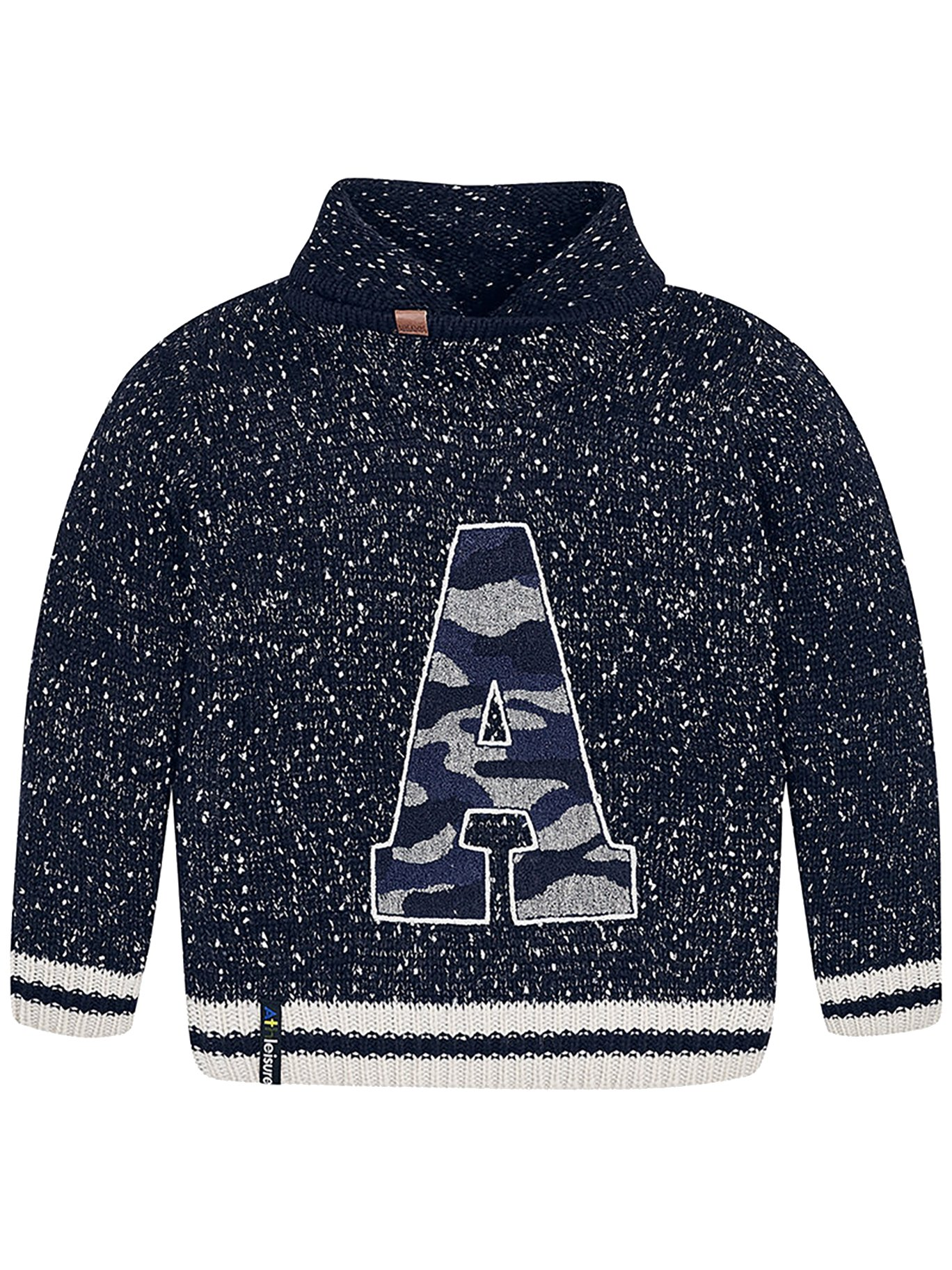 Mayoral 18-07304-090 - Sweater with Folded Neck for Boys 16 Years Navy
