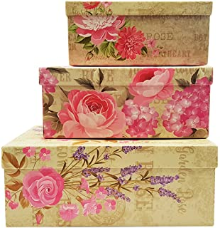 Amazon sunbright decorative gift boxes with bows magnetic alef elegant decorative themed nesting gift boxes 3 boxes nesting boxes beautifully themed and negle Image collections