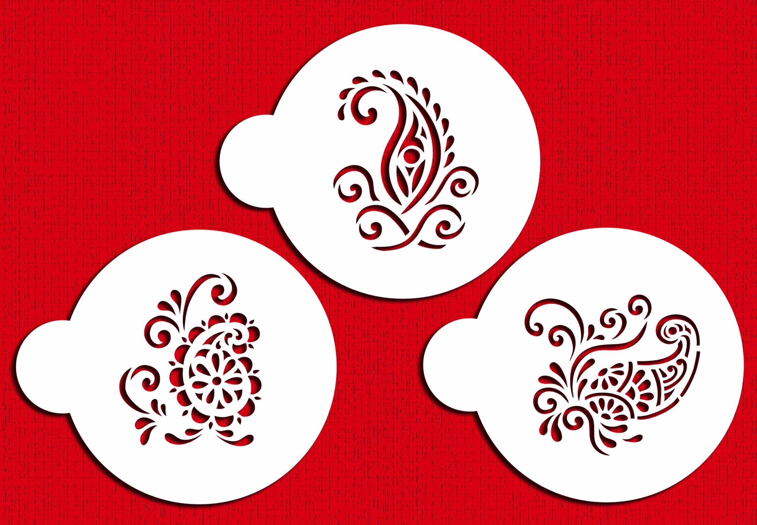 Silk Paisley Cookie Set C802 by Designer Stencils